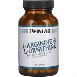 TWINLAB L-ARGININE & L-ORNITHINE (100 КАПС.)