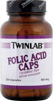 TWINLAB FOLIC ACID CAPS (200 КАПС.)