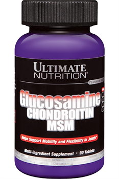 ULTIMATE NUTRITION GLUCOSAMINE & CHONDROITIN & MSM (90 ТАБ.)